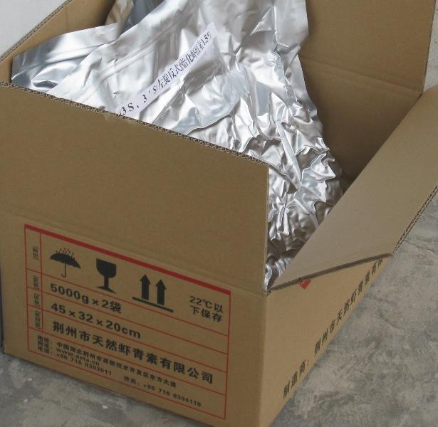 天然虾青素粉的实际包装